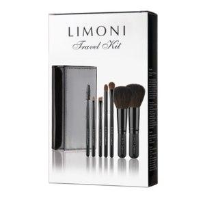 "Набор кистей для макияжа Limoni Professional ""TRAVEL KIT"" (из 7 предметов) + чехол фото"