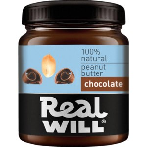 Арахисовая паста Real will шоколадная фото