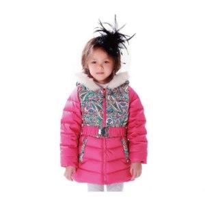 Пуховик AliExpress Free Shipping Girl Winter Down Jacket Kids Coat Girl Winter Outwear Printed Folk Russian Style Duck Down Parkas Patchwork фото