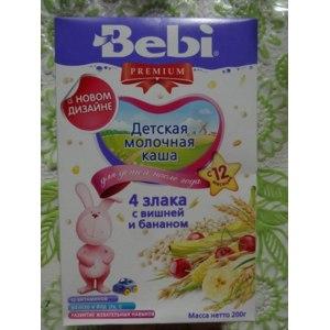 Каша Baby Premium молочная 4 злака с вишней и бананом фото