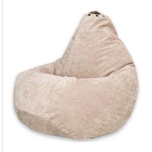 Кресло-мешок  Бежевый Микровельвет XL, Bean-Bag фото