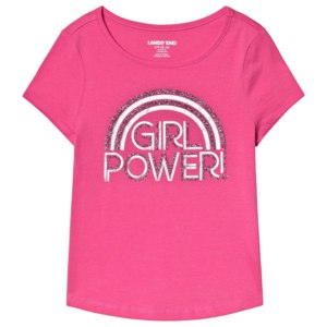 Футболка Lands' End  Pink Girl Power Foil Print Tee арт. 449878_II7 фото