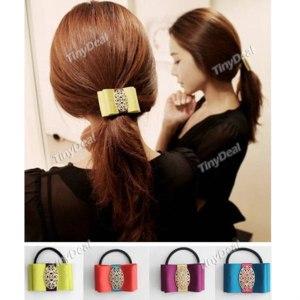 Аксессуары для волос Tinydeal Bowknot Patchwork Gauze Hair Band Ring Accessories DTH-291889 фото