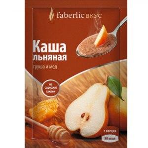 Льняная каша Faberlic Со вкусом груши и мёда фото