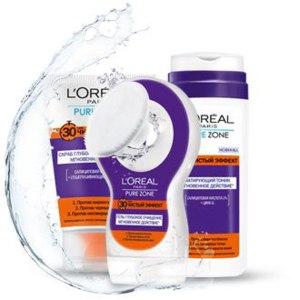 Гель L'Oreal Pure Zone Чистый эффект 30 секунд Глубокое очищение Мгновенное действие  фото