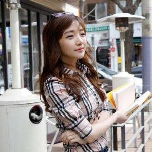 Блузка AliExpress 2013 New Popular Office Design Lady Casual Blouses Size S-2XL Good Quality Korean Women Career OL Plaid Shirt Free Shipping 1331 фото