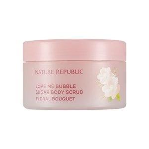 Сахарный скраб для тела Nature Republic Love Me Bubble Sugar Body Scrub  (Floral Bouquet)  фото