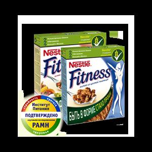 Готовые завтраки Nestle Хлопья Fitness фото