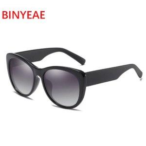 Солнцезащитные очки Aliexpress BINYEAE Brand Design Oversized Polarized Sunglasses Women Luxury Transparent Sun Glasses Men Car driving glasses Vintage Eyewear фото