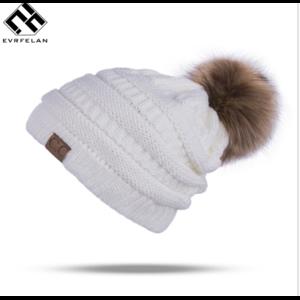 Шапка AliExpress Winter Brand Female Ball Cap Pom Poms Winter Hat For Women Girl 'S Hat Knitted Beanies Cap Hat Thick Women'S Skullies Beanies фото