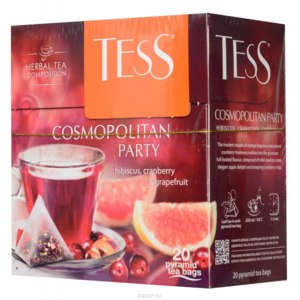 Чай в пирамидках Tess Cosmopolitan party (Космополитан Пати) фото