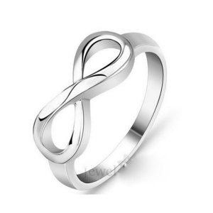 Кольцо Aliexpress High Quality 925 Sterling Silver Infinity Ring Endless Love Symbol Wholesale Fashion Rings For Women #SI1137 фото