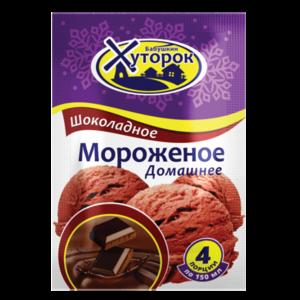 """Мороженое ТМ """"Бабушкин хуторок"""" Домашнее шоколадное (порошок для приготовления) фото"""