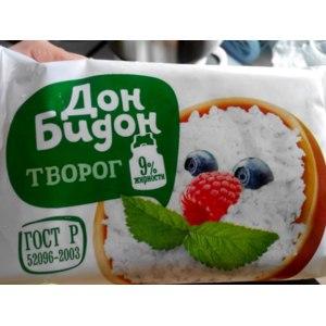"""Творог Дон Бидон (""""Краснобаковские молочные продукты"""") 9% фото"""