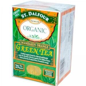 Чай в пакетиках St. Dalfour Organic, Green Tea, Mandarin Orange фото