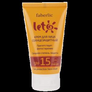 Крем для лица Faberlic солнцезащитный SPF 15 серии LETO фото