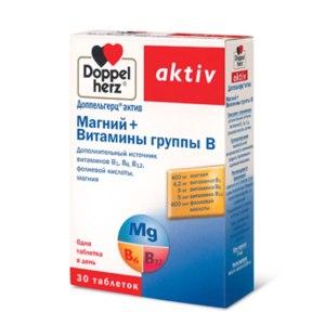 Витамины Doppelherz aktiv (Доппельгерц актив) Магний + Витамины группы В фото