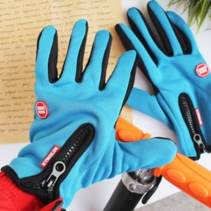 Перчатки Aliexpress Winter Outdoor Sports Hiking Bicycle Cycling Gloves Touch Screen for Men Women Windproof Simulated Leather Soft Warm Bike Gloves фото