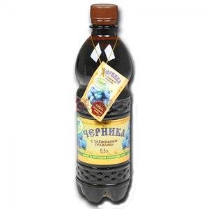 Безалкогольный напиток Таёжный дар черника с таёжными травами фото
