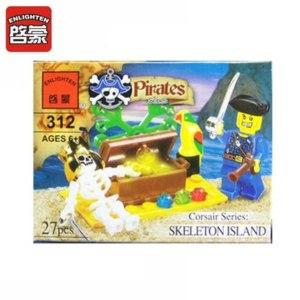 Aliexpress Конструктор пластиковый Enlighten 312 Pirates Corsair series: SCELETON 27 pcs / Пираты. Остров приключений 27 дет. фото