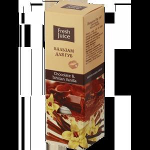 Бальзам для губ Fresh Juice Chocolate & Tahitian Vanilla (Шоколад и Таитянская ваниль) фото