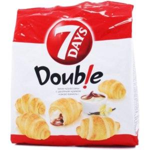 """Круассан 7 DAYS Double мини-круассаны с двойным кремом """"какао-ваниль"""". фото"""
