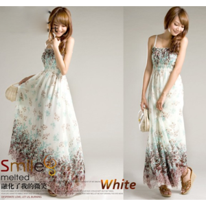 Платье летнее AliExpress Hot Women Bohemia Style Long Sling Floral Chiffon Dress Beach Sundress SV16 3104 фото