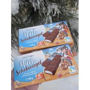 Молочный шоколад Maitre Truffout с начинкой со сливочным вкусом в мини-батончиках, 100г фото