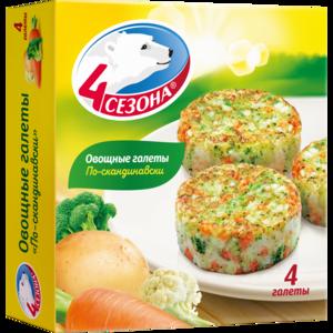 Замороженные продукты / блюда 4 сезона Овощные галеты по-скандинавски фото