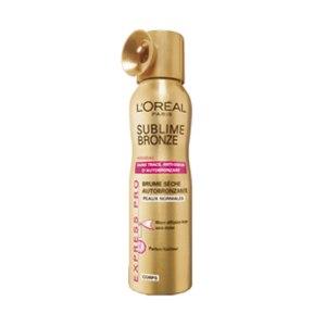 loreal sublime bronze spray i ansiktet