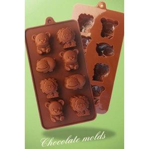 Силиконовая формочка для шоколада AliExpress  Little Bear Hippo Lion Shaped Chocolate Mold Food Grade Silicone Chocolate Mold Silicone Ice Trays Mould D503 фото