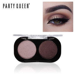 Тени для век Aliexpress Party Queen Shimmer Matte 2 Colors Eyeshadow Palette Cosmetic Naked Pigment Makeup Intense Glitter Earth Color Smokey Eye Shadow фото