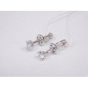 Серьги-пусеты Aquamarine jewelry Серебро 925 пробы арт.42088 фото