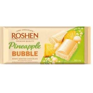 Шоколад пористый ROSHEN Pineapple Bubble (белый со вкусом ананаса) фото