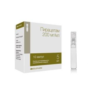 Лекарственный препарат Solopharm Пирацетам, ампулы 200 мг/мл фото