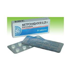 Таблетки ОАО «Борисовский завод медицинских препаратов» Метронидазол, 250 мг фото