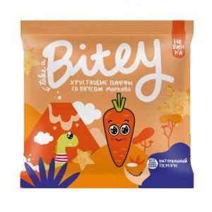 """Мультизлаковые фигурки Take a Bite Паффы-чипсы со вкусом """"Морковь"""" фото"""