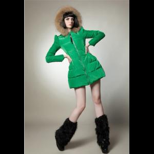 Пуховик AliExpress 2014 Winter Fashion Candy Color Down Coat Women's Down parkas natural Large Fur Collar Hooded Down Jacket women Coats & Jackets фото