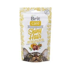 Лакомство для кошек Brit Care Shiny Hair (для блестящей шерсти) фото