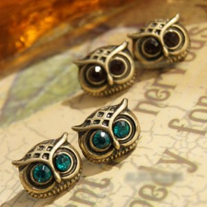 Серьги Aliexpress vintage owl earrings фото