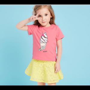 Футболка AliExpress Balabala Hot Sale Cartoon printed tshirt for girls 100% Cotton Short Sleeve Kids Girls T-shirts 2018 Fashion Children Girls фото