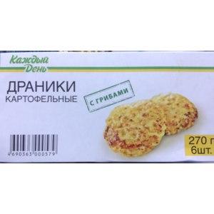Драники картофельные  Каждый день с грибами фото