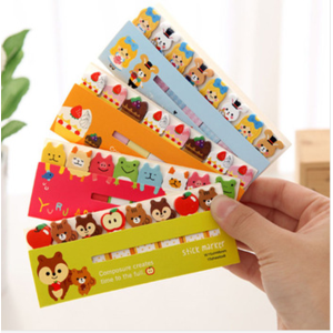 Aliexpress Стикеры / Наклейки Funny Animal Stickers Memo Sticky Notes Portable Post-It Bookmark Marker Home/Office Color Random фото