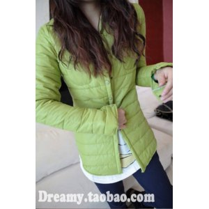 Куртка AliExpress Women's thermal silk floss shirt female candy color thin wadded jacket outerwear thickening shirt basic shirt фото