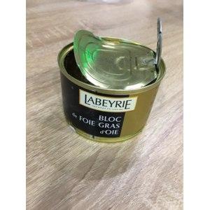 Паштет печеночный Labeyrie Bloc de foie gras d`oie Фуа гра гусиная блок 155 гр фото