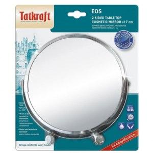 """Косметическое зеркало Tatkraft """"EOS"""" — настольное, двухстороннее, диаметр 17 см.  Артикул: 11656 фото"""