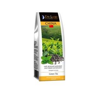 """Зеленый чай ТМ """"De Luxe Foods & Goods Selected"""" чай зеленый байховый листовой фото"""