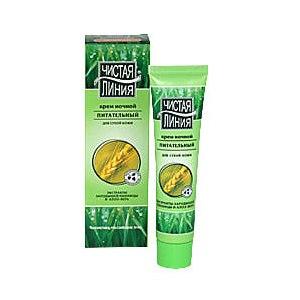 Крем для лица ночной Чистая линия питательный для сухой кожи фото