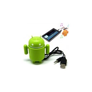 Колонки TinyDeal Mini Google Android Robot Audio Speaker Amplifier For Laptop Computer  фото