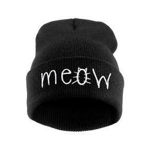 Шапка AliExpress 2014 New Winter Beanies MEOW/DIAMOND/BAD HAIR DAY Hats Cotton Knitted Touca Gorro Caps Casual Hip-hop Skullies For Men Women фото